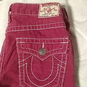 True Religion corduroy pants